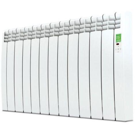 Radiateur électrique connecté horizontal à fluide caloporteur série D Wifi blanc 1500W