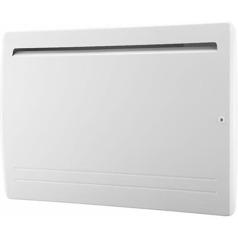 Radiateur électrique cœur céramique + film de protection - thermostat électronique - double élément chauffant - VOLTMAN - 2000W IP24 NF CE - Blanc