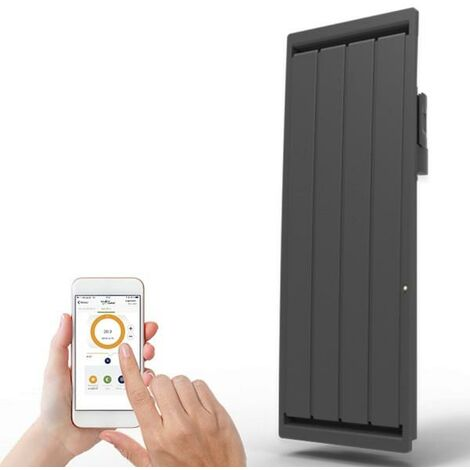 Radiateur electrique Fonte APPLIMO - SOLEIDOU Smart ECOcontrol 2000W Vertical Anthracite 0013767SEHS