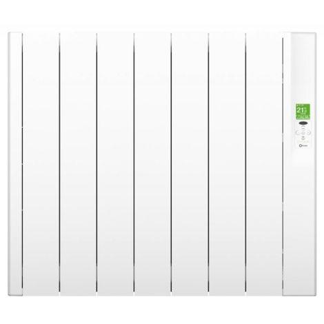 Radiateur électrique horizontal à fluide caloporteur Sygma blanc 1500W