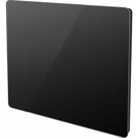 Radiateur électrique panneau rayonnant noir finition verre - multimode - VOLTMAN - 1000W IP24 NF CE