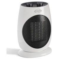 Radiateur electrique soufflant 1000W-2000W céramique blanc 312X220X148mm portable CULT ARGO 191070156