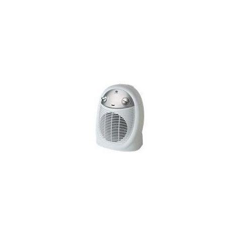 Radiateur électrique soufflant mobile - Vertical - 2400W - Blanc et gris