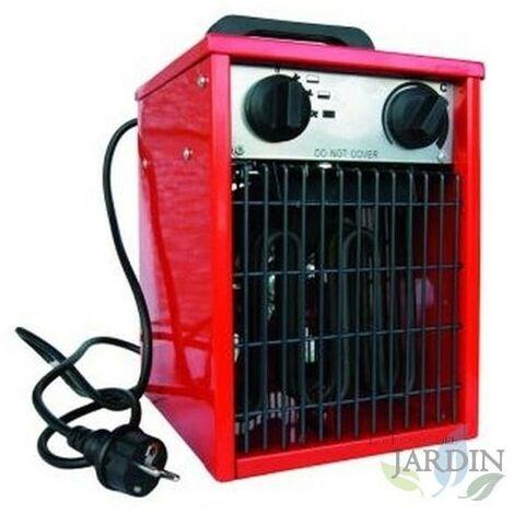 Radiateur électrique ventilateur 3000W 25x25x40 cm