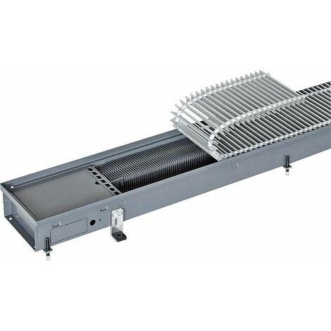 radiateur encastré dans caniveau Katherm NX, grille alu nature anodise lxHxP : 225x92x1500 mm