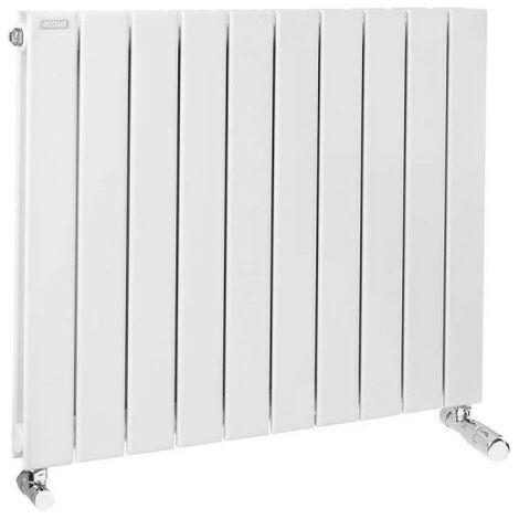 Radiateur FASSANE eau chaude horizontal double � �l�ments verticaux 1062 w haut 700 largeur 888 12 �l�ments blanc r�f. HXD-070-089