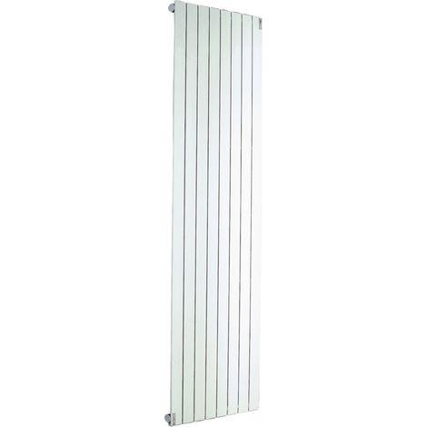 Radiateur FASSANE eau chaude vertical simple 1240 w hauteur 2000 mm largeur 592 mm 8 éléments blanc