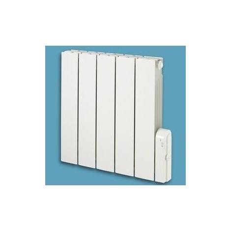 Radiateur électrique 300W blanc à inertie fluide caloporteur 375X573X112mm horizontal 6 ordres BALEARES THERMOR 491501