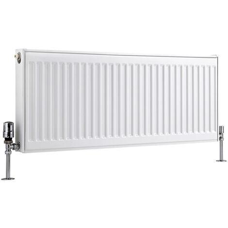 Radiateur Horizontal À Panneaux – Blanc – Type 11 – 40 x 100cm – Eco