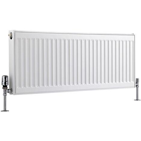 Radiateur Horizontal À Panneaux – Blanc – Type 21 – 40 x 100cm – Eco