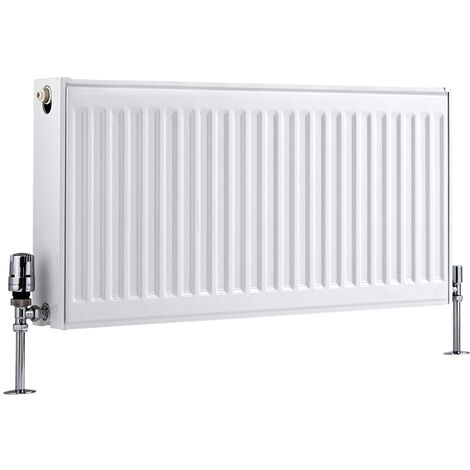 Radiateur Horizontal À Panneaux – Blanc – Type 21 – 40 x 80cm – Eco