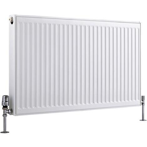Radiateur Horizontal À Panneaux – Blanc – Type 21 – 60 x 100cm – Eco