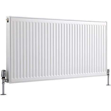 Radiateur Horizontal À Panneaux – Blanc – Type 21 – 60 x 120cm – Eco