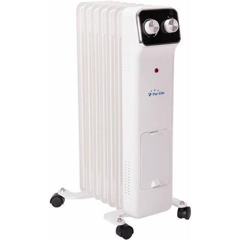 Radiateur � huile 1500 W basse consommation avec thermostat et 3 niveaux de puissance