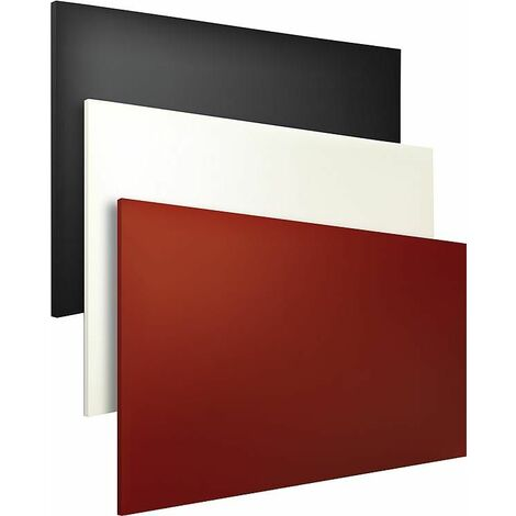 Radiateur infrarouge 1000W revetement par poudre, couleur rouge montage mural