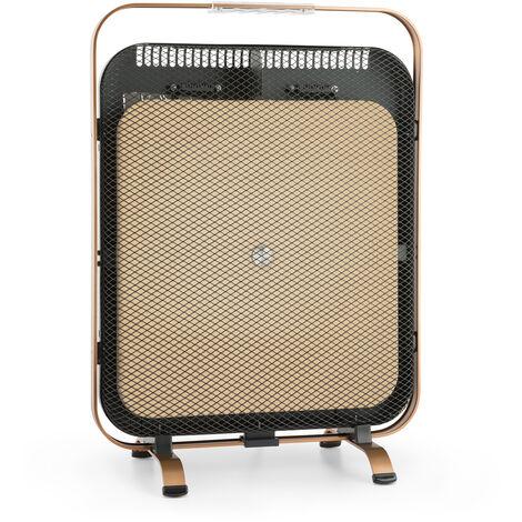 Radiateur infrarouge Klarstein HeatPal Marble Blackline 1300W marbre cuivre