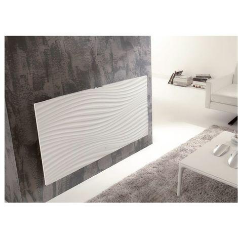 Radiateur Irisium d'Atlantic design et connecté 1500W blanc - Blanc - 1530 x 600 x 90