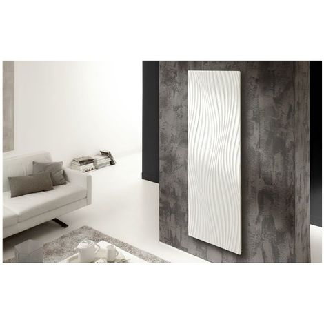 Radiateur Irisium d'Atlantic design et connecté 1500W vertical - Blanc - 550 x 1900 x 90