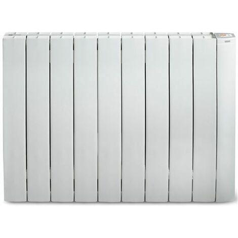 RADIATEUR MURAL A INERTIE - Blanc - 1500 w - Fluide caloporteur - fil p SUPRA - GALBEOR1500B