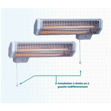 Radiateur Noirot Royat 2 Infrarouge à tube quartz