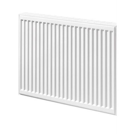 Radiateur panneau acier COMPACT ALL IN 2 lames + 1 rangée d'ailettes (21) - H: 600 mm - L: 700 mm - 942 W