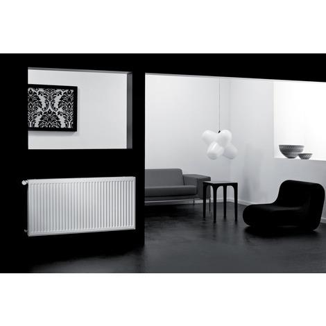 Radiateur panneau Acier Radson COMPACT, Type 22 Blanc 1099w 600x600mm raccordement latéral