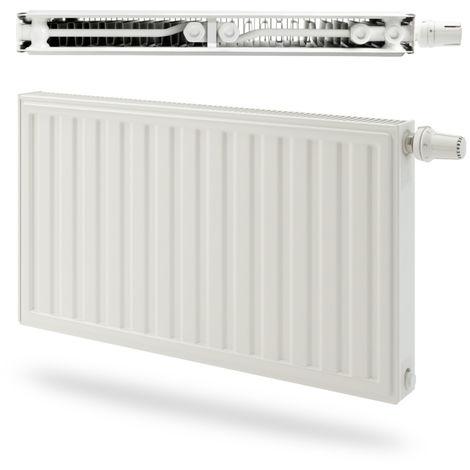 Radiateur panneau Acier Radson double Integra E.Flow 607W - Type 21S - Raccordement droite - 600x450mm - Blanc