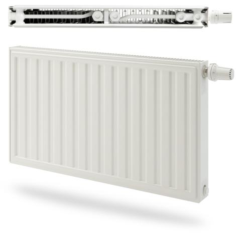 Radiateur panneau Acier Radson double Integra E.Flow 809W - Type 21S - Raccordement droite - 600x600mm - Blanc