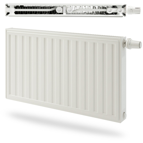 Radiateur panneau Acier Radson double Integra E.Flow 824W - Type 22 - Raccordement droite - 600x450mm - Blanc