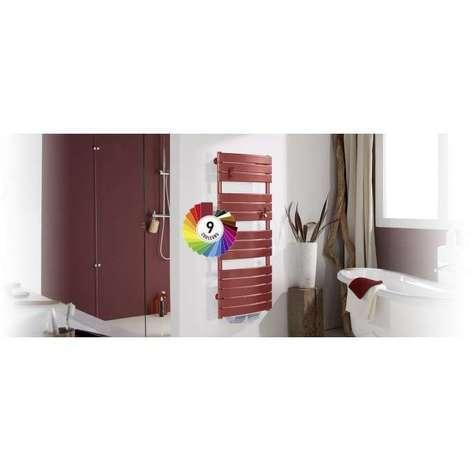 Radiateur salle de bain THERMOR RIVIERA DIGITAL SOUFFLERIE (Couleur: Gris menhir - Sens: Soufflerie - Puissance: 750 W + 1000 W soufflerie - Dimensions: 1370 x 550 x 550)