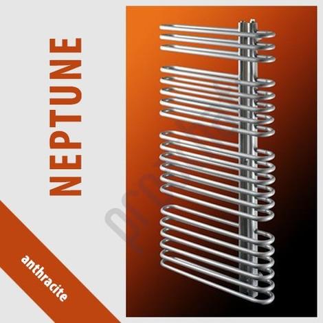 RADIATEUR SALLE DE BAINS sèche- serviettes NEPTUNE N-8/50 480x500 ANTHRACITE