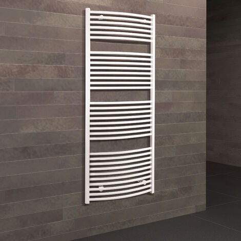 Radiateur sèche-serviette à eau chaude Europa, blanc, inertie fluide, vertical, Schulte, 150 x 60 cm, 820 W