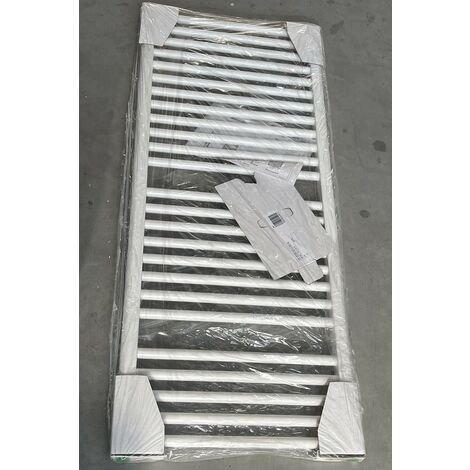 Radiateur seche-serviette eau-chaude 574W blanc 1186x500mm 25 tubes droits VASCO BM VASCO 11101-04
