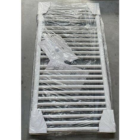 Radiateur seche-serviette eau-chaude 676W blanc 1186x600mm 25 tubes droits VASCO BM VASCO 11101-08