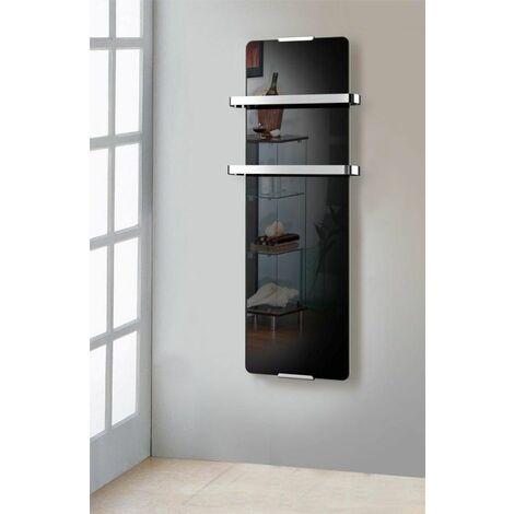 radiateur sèche serviette électrique 600w noir - 176 - chemin'arte