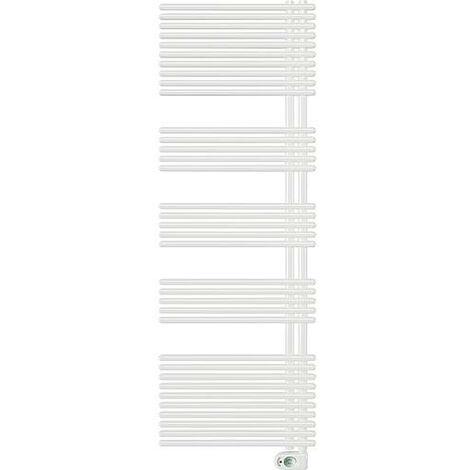 Radiateur seche-serviette electrique, modele Garda, 1000W couleur: RAL 9016 blanc