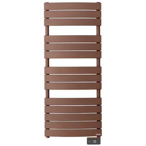 Radiateur seche-serviette RIVIERA 750W brun terracotta-sans soufflerie