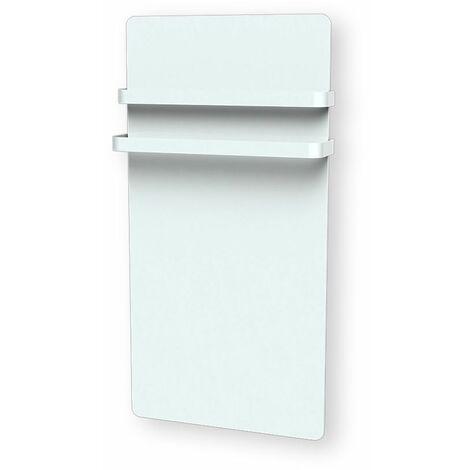 Radiateur sèche-serviette Verre LCD 1000W blanc - Cayenne