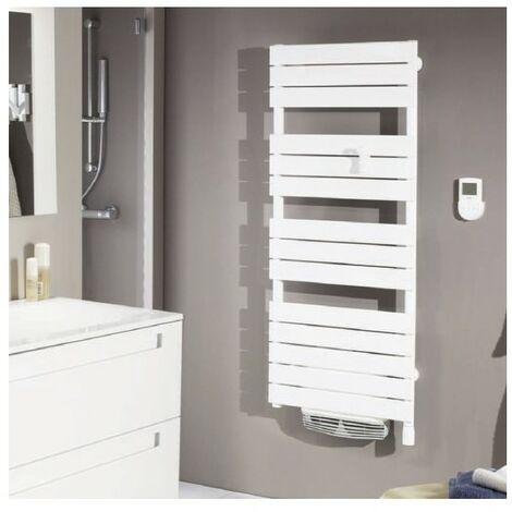 Radiateur sèche-serviettes Adelis Intégral - Ventilo - Blanc carat - 500+1000W
