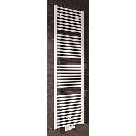 Radiateur sèche-serviettes ARES chauffage central - Raccordement 50 mm - Puissance 711 W - H 1462 mm - L 530 mm - BLANC