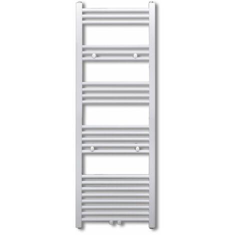 Radiateur sèche-serviettes circulation d'eau chaude hauteur 116 cm salle de bain blanc - Blanc