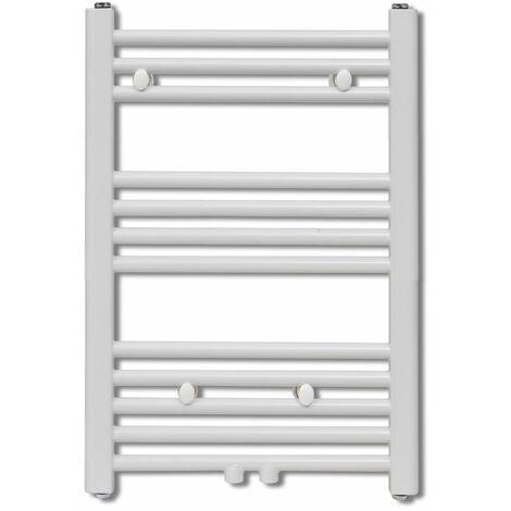 Radiateur sèche-serviettes circulation d'eau chaude hauteur 76 cm salle de bain blanc - Blanc