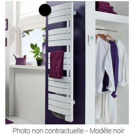 Radiateur sèche-serviettes électrique étroit intégral NEFERTITI - 500 + 1000W - Noir