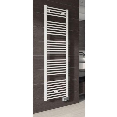 Radiateur sèche-serviettes électrique Flèche blanc hauteur 944 mm largeur 500 mm 500 W