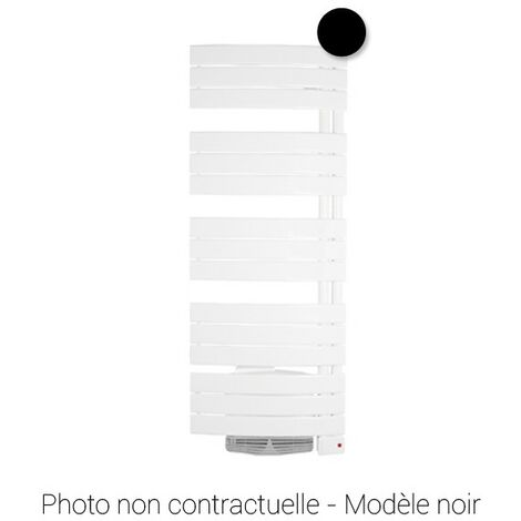Radiateur sèche-serviettes mixte NEFERTITI - 1000 + 1000W - Noir