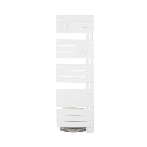 Radiateur sèche serviettes NÉFERTITI Etroit 1750w ventilo - 1750 x 455 x 135 mm - Blanc