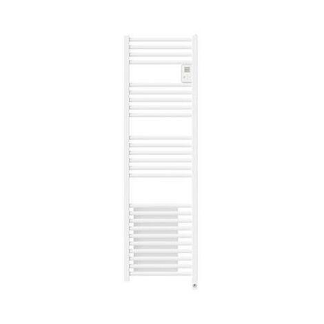 Radiateur sèche-serviettes Riva 4 - Étroit - Avec soufflerie - 1300W - Noir carbone