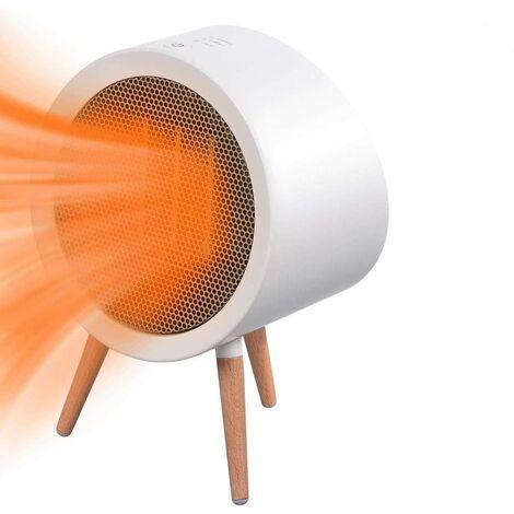 Radiateur Soufflant, 800W Ventilateur de Chauffage Mobile, Mini Chauffage Électrique Portatif en Céramique 3 Mode, Boutons Tactiles Complets et Fonction de Minuterie pour Salon Chambre Bureau