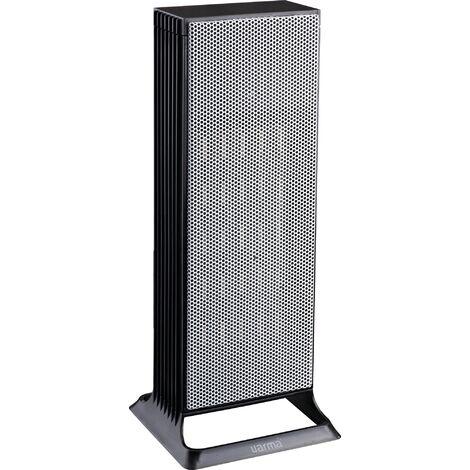 Radiateur soufflant céramique tour Ven avec ventilation froide Varma - 2000 W - Gris - Gris et noir