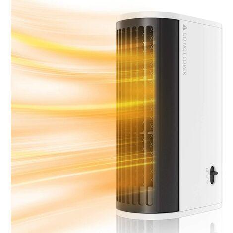 Radiateur Soufflant Electrique Mini Ventilateur de Chauffage Electrique Portable Silencieux avec 2 Modes Pour Salon Chambre et Bureau